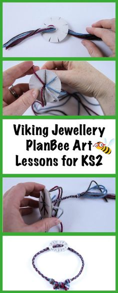 Viking Art activities - Teach your class to create their own piece of Viking jewellery either through weaving or creating a clay pendant. Part of a six-lesson series of Viking Art lessons for Year 5 and Year Can be adapted for younger children. Vikings Ks2, Vikings For Kids, Viking Art, Viking Woman, Color Art Lessons, Forest School, Viking Jewelry, Anglo Saxon, Lessons For Kids