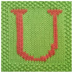 PDF Knitting pattern capital letter U afghan / by FionaKelly, $2.00