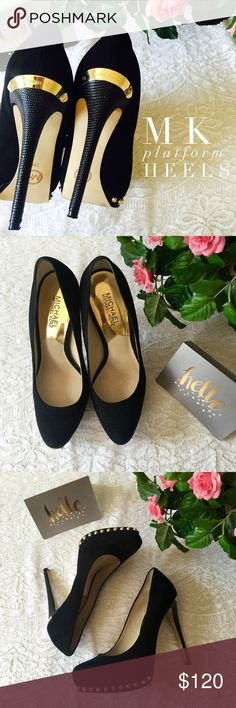 🎀HP🎀Michael Kors Platform Pumps Black Michael Kors Platform pumps add sass and sophistication to any outfit.  🔺Sale price firm! Bundle to save! (10% off 3+). 🔺No trades + no modeling, do not ask. Michael Kors Shoes Platforms