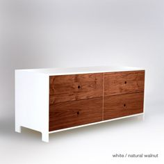 Parker 4 drawer low dresser: Ducduc. $1645. Comes in a variety of colors.