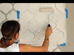 Descubre PASO a PASO como para pintar paredes con plantillas decorativas