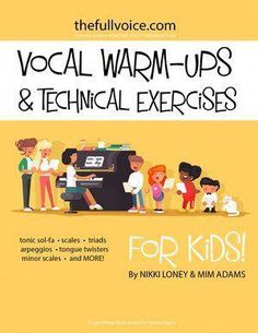 Inspired Vocal Music Resources for Young Singers. The FULL VOICE Workbooks - a workbook for young vocal students. Singing, music theory, ear-training, rhythm reading and sight singing curriculum for Vocalists. Vocal Lessons, Music Lessons For Kids, Piano Lessons, Singing Exercises, Vocal Exercises, Warm Up For Kids, Tongue Twisters For Kids, Vocal Warmups, Singing Tips