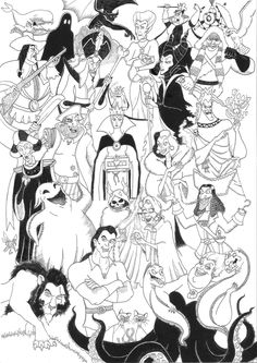 Disney Villains Coloring Pages | Disney Villains Compilation by 010001110101 on deviantART