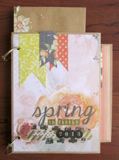 Spring Mini Album by Tessa Buys for SEI Lifestyle. Cool ideas with envelopes!