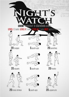 Game of Thrones Crow Workout