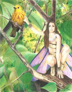 Warrior Fairy by RavensFantasyArt on Etsy, $10.00