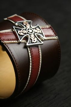 Ethos Custom Brands - Barons Cross Cuffs - Hand-crafted Leather Products