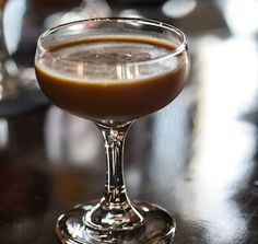 Venetian Coffee     4 ounces fresh-brewed coffee     1 ounce rye whiskey     ¾ ounce Amaro Montenegro     ¼ ounce simple syrup     ¼ ounce coffee liqueur     ½ ounce cream     Pinch of ground cardamom