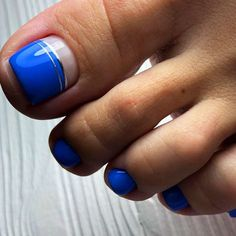 Nail Designs In Blue Shades 40 Amazing Toe Nail Colors To Choose In 2019 Gel Toe Nails, Black Toe Nails, Cute Toe Nails, Feet Nails, Toe Nail Art, Pretty Nails, Toenails, Blue Nails, Diy Nails