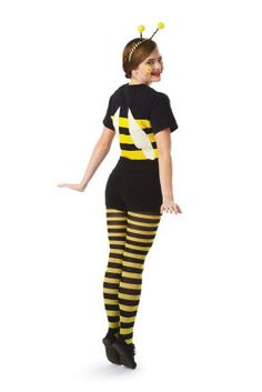 Glitter & Ghouls: Teen/Tween Bee Halloween Costume... I would put this costume together a little differently but good concept