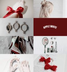 """wormwoodandhoney: """" ever after high: apple white """"i'm the daughter of snow…"""
