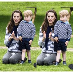 29 May 2016  Earlier that day, William and Kate brought their two kinds, George and Charlotte, for a family day out to Houghton Hall International Horse Trials, near Anmer Hall their Norfolk country home.  The Duchess of Cambridge watched the action while