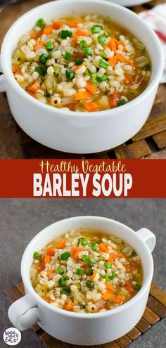 Barley soup barley soup souphealthy homemade healthy vegetable barley soup a perfect easy vegetarian recipe to keep you warm during cold winter days ready to enjoy in about 30 mins watchwhatueat barley soup vegan vegetarian quesadillas Vegetarian Recipes Easy, Cooking Recipes, Healthy Recipes, Vegan Vegetarian, Vegitarian Soup Recipes, Easy Recipes, Easy Vegan Soup, Veggie Soup Recipes, Easy Vegetable Recipes