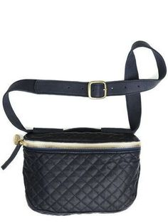 Clare V Fanny Pack - Navy Quilted