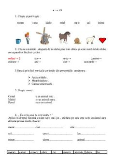 6654510 fise-limba-romana-clasa-i Visual Perceptual Activities, Kids Education, Speech Therapy, Good To Know, Children, School, David, Rome, Childhood Education