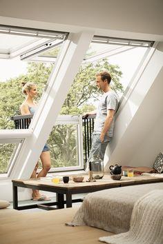 Attic Bedroom Designs, Master Bedroom Interior, Attic Design, Loft Conversion Windows, Loft Conversion Bedroom, Bamboo House Design, Tiny House Design, Attic Apartment, Attic Rooms