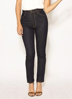 Elizabeth indigo jeans by Imogene + Willie    Top 5: Lena Wald, Jewelry Designer