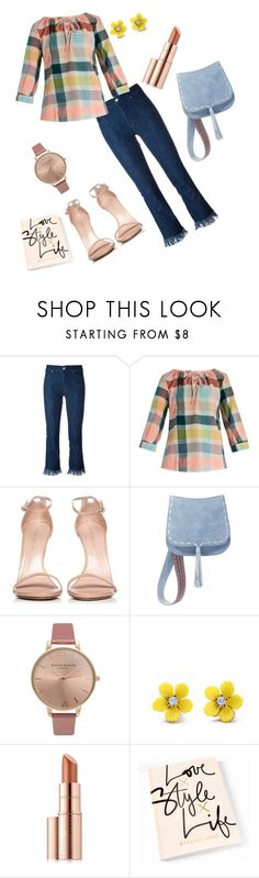 """Untitled #398"" by jbillington ❤ liked on Polyvore featuring 7 For All Mankind, ace & jig, Stuart Weitzman, Steve Madden, Olivia Burton, WithChic and Estée Lauder"