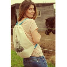 blue drawstring version #backpack #bike #cotton #country