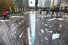 Check out Sidewalk Art from 10 Cool Optical Illusions