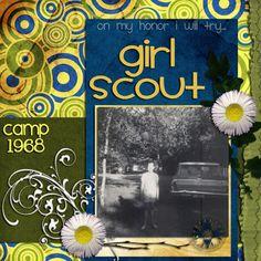 A Little Bit of Patti: Great Girl Scout Scrapbooking Layout Ideas