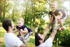 family sessoin   father daughter shot   photography   baby   tattoos   Taylor Whitehurst Photography