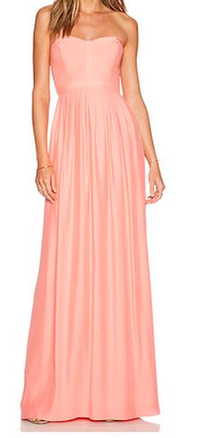 Beautiful bandeau maxi-dress