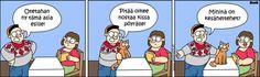 Ny nostetahan se kissa pöyrälle! Peanuts Comics