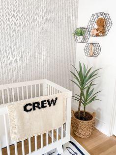 black and white neutral nursery with boho and scandi details #nurserydecor #nurseryideas #babynursery #nursery