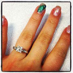 Peacock Wedding Nails