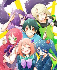 Mikatsuki Korona, Hataraku Maou-sama!, Yusa Emi, Urushihara Hanzo, Maou Sadao, Kamazuki Suzuno