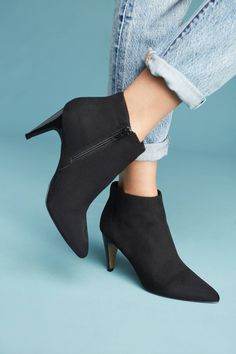 15febd61622 Slide View  4  Vanessa Wu Suede Heeled Booties