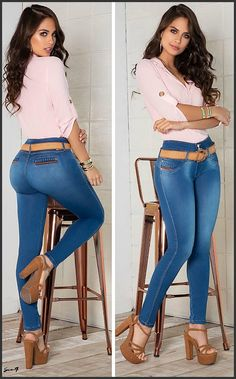 Classy Outfits, Girl Outfits, Casual Outfits, Cute Outfits, Fashion Outfits, Sexy Jeans, Skinny Jeans, Denim Fashion, Girl Fashion