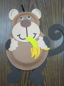 basteln mit papptellern affe kreativ basteln mit kindern tinker with paper plates monkey creative tinker with children Kids Crafts, Zoo Crafts, Monkey Crafts, New Year's Crafts, Camping Crafts, Animal Crafts, Toddler Crafts, Preschool Crafts, Craft Projects
