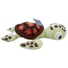 """My Baby Excels Squirt Plush Turtle is soft-stuffed plush drops you in to catch a wave of fun. This Squirt Plush Toy is a cuddly stuffed sea turtle toy from the Disney animation movie """"Finding Nemo"""". It is soft, cute and huggable and makes a great gift for any occasion."""