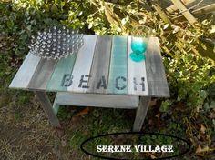 Table de bout bois résisté à Table Village serein par SereneVillage