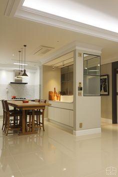 얼마 전 스타일링까지 완료 한 동탄 메타폴리스 68평 인테리어 ! 저녁시간에 찾아뵈었는데 맛있는 피자도 ... Cozy Nook, Clinic Design, House Entrance, Home Look, Office Interiors, Home Kitchens, Living Room Designs, Kitchen Dining, Building A House