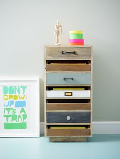 The'Monty Filing Chest' is handmade in India from sustainable mango wood. A fabulous storage solution for small spaces, it fits A4 paper with room to move.