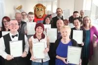 The Dramatic Action group continued this year with a whole list of achievements. 14 members of the group completed an accredited first aid course and a further 19 members received an award presented by Lofty at the Reebok Stadium.