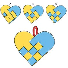 valentine heart weaving craft