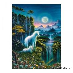 Dětské puzzle Jednorožec - starline - svítí ve tmě Unicorn And Fairies, Unicorn Fantasy, Unicorn Horse, Unicorns And Mermaids, Unicorn Art, Magical Unicorn, Magical Creatures, Fantasy Creatures, Fantasy World