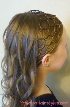 Long dark blonde with honeycomb headband hairstyle tutorial