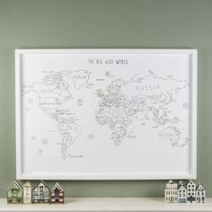 personalised world travel map with pins by louisa elizabeth | notonthehighstreet.com