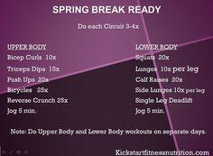 Kickstart Workouts: Spring Break Ready Workout