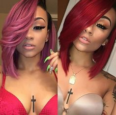 Pink or red? @mulatto_emiliana  Read the article here - http://www.blackhairinformation.com/hairstyle-gallery/pink-red-mulatto_emiliana/