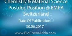 Chemistry & Material Science Postdoc Position @ EMPA Switzerland