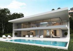 Casas modernas   10 ejemplos de diseño espectacular   Arquitectura, distribución, fachadas, interiores y precios de viviendas modernas   Blog LIVING KITS