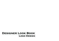Designer Look Book Logo Design.