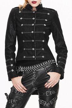 886efe5deb78 Shop steel master black button up high low jacket here