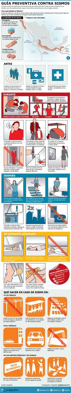 Guía de recomendaciones para saber qué hacer antes, durante y después de un temblor